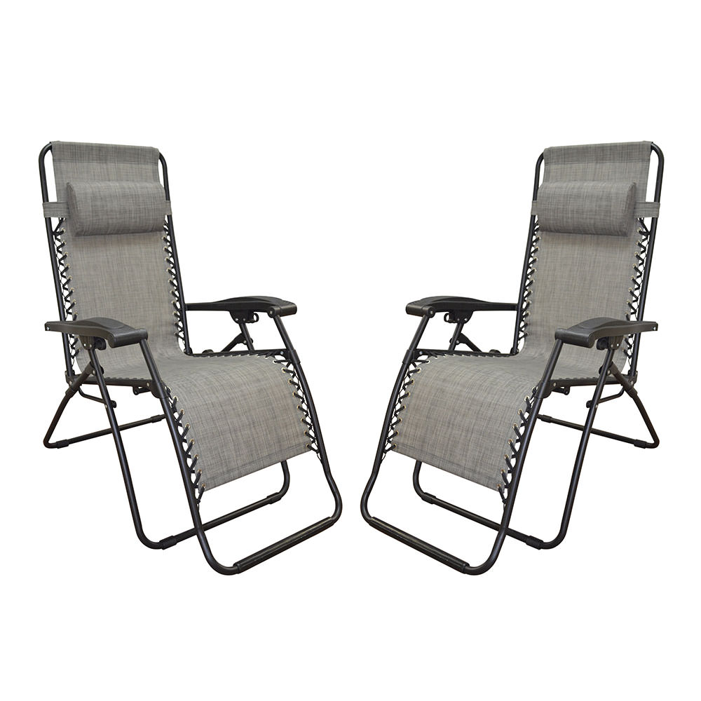 caravan canopy folding chairs chair diy zero gravity recliner gray 2 pack 80009000122 recliners camping world