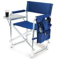 Sports Chair- Navy - Picnic Time 809-00-138 - Folding ...