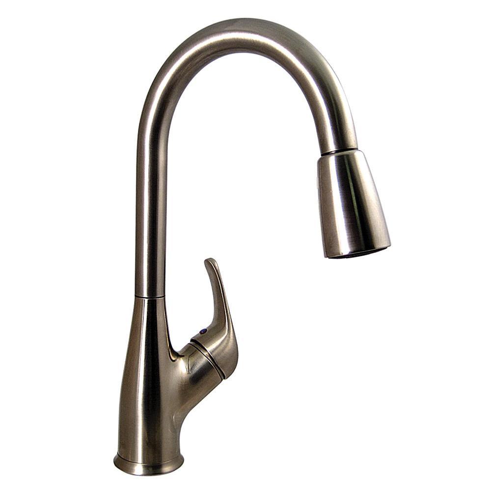 Kitchen PullDown Faucet Brushed Nickel Finish  Valterra