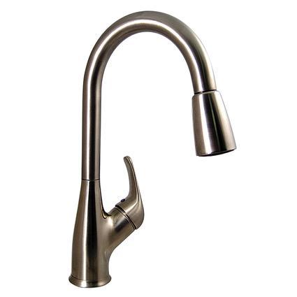 kitchen pull down faucet walnut cabinets brushed nickel finish valterra pf231461