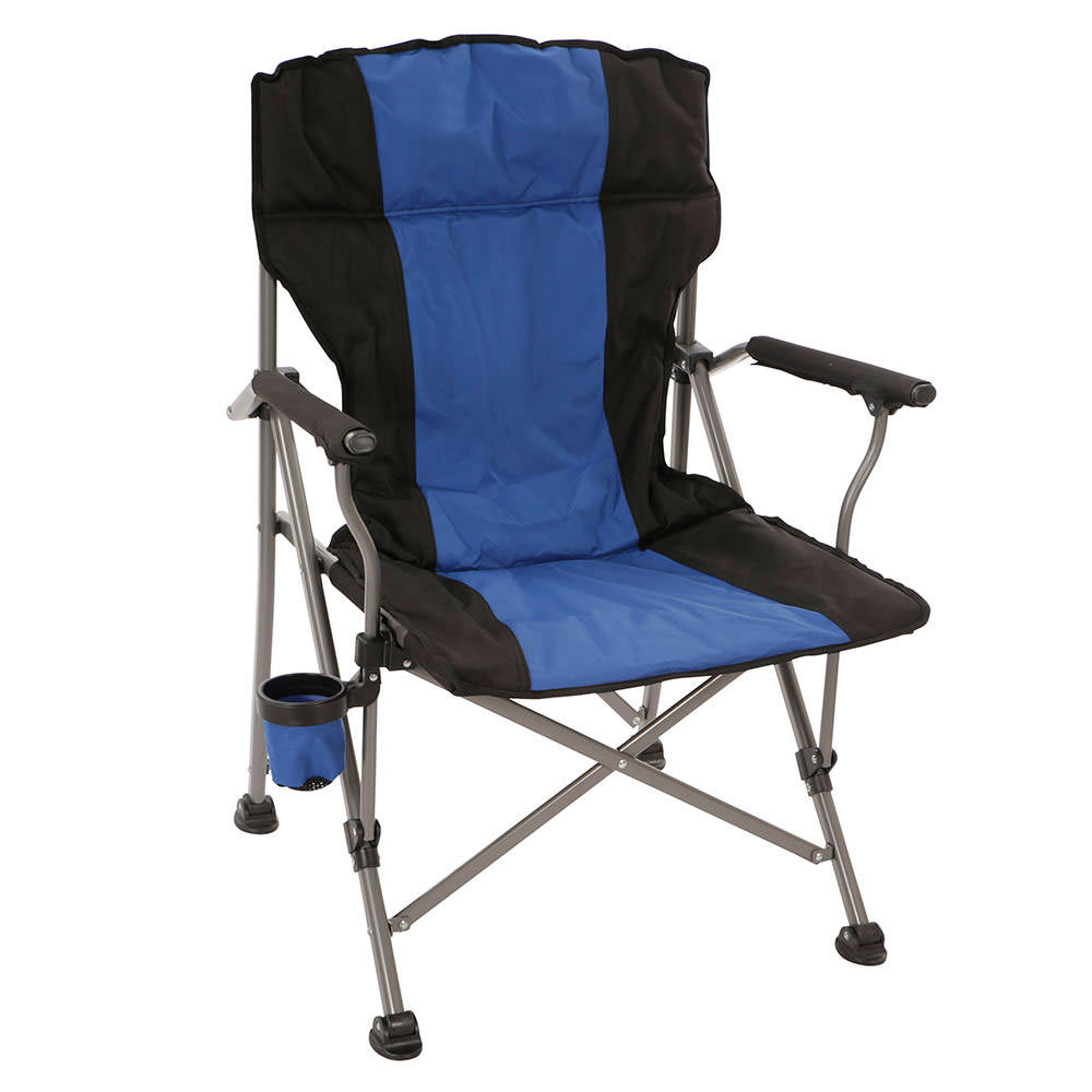 padded camping chair wholesale covers and sashes for sale quad blue intersource d09 15002 folding chairs world