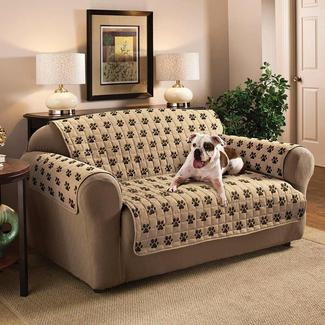 sofa coverings dogs dealers in coimbatore rv furniture covers camping world paw print protector loveseat seat width 46