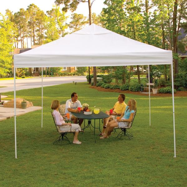 12x12 Pro Series Pop- Canopy - White Shelterlogic 22538 Instant Canopies Camping World