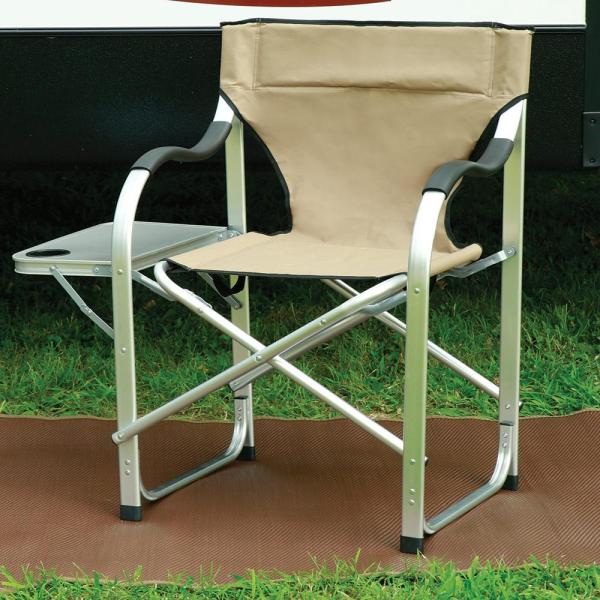Aluminum Extra Large Director' Chair Tan - Direcsource 69104-1 Folding Chairs Camping