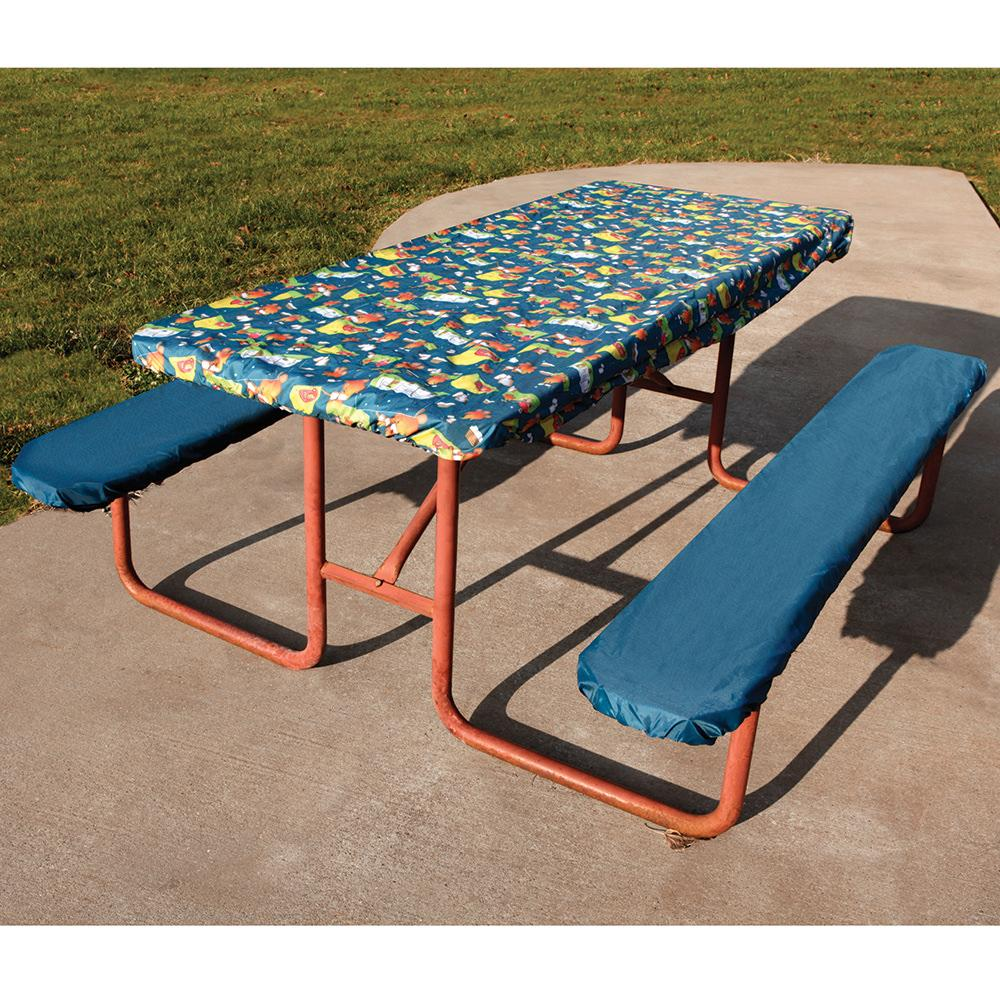 Picnic Bench Covers Cfire Picnic Tablecloth And Seat Covers