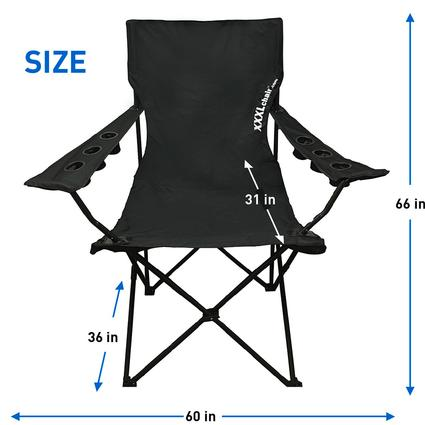 giant folding chair high hardware xxl sized camp black easy go products egp 005