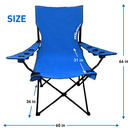 giant folding chair patio swing xxl sized camp blue easy go products egp 005 blu