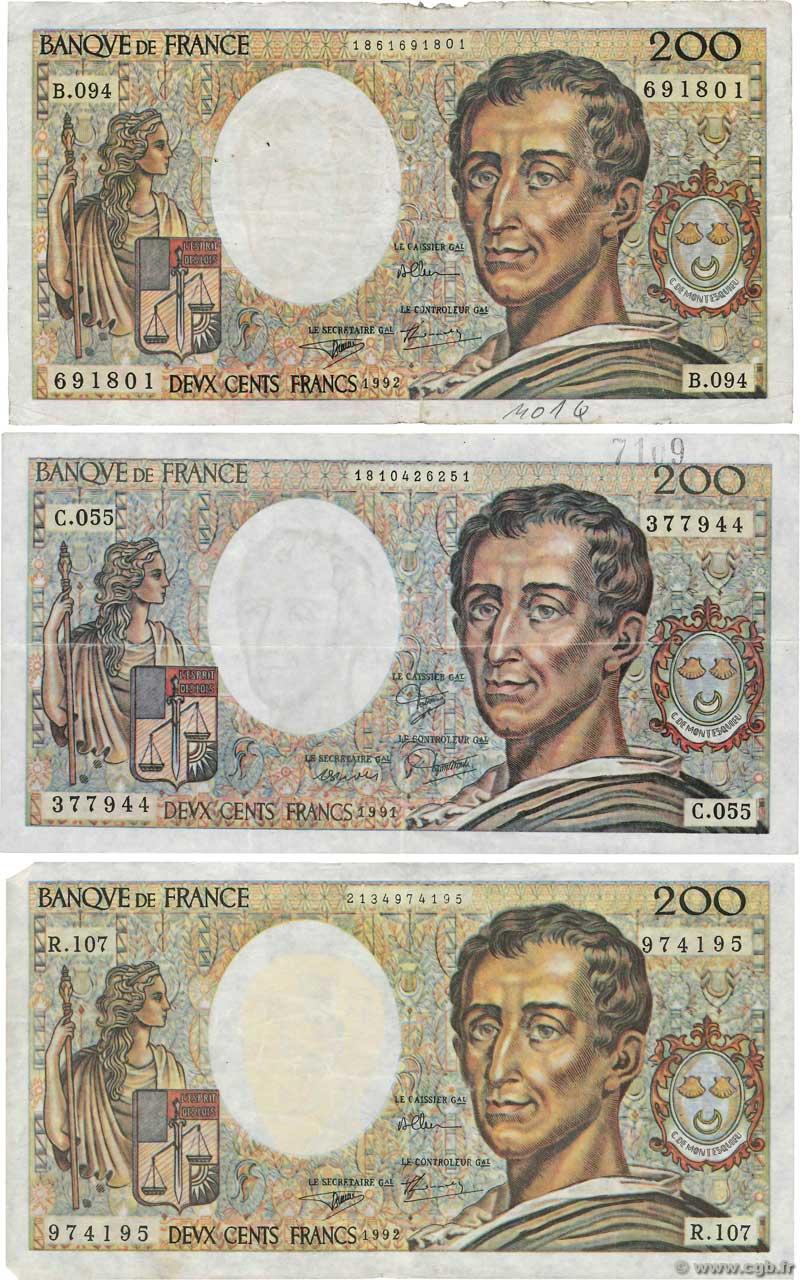 Billet De 200 Francs : billet, francs, Francs, MONTESQUIEU, FRANCE, F.70.11x, 4160387, Billets