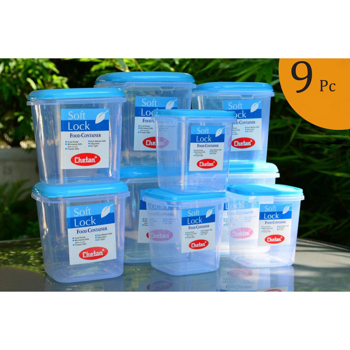 kitchen containers sink sale buy chetan set of 9 pcs plastic airtight storage