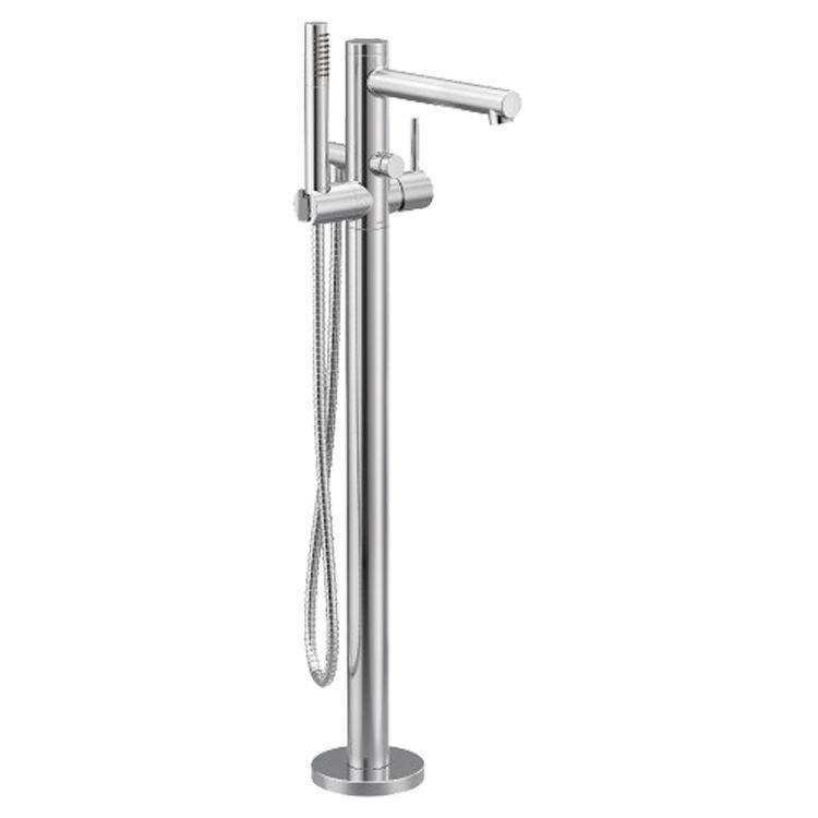 moen 395 align floor mount tub filler w handshower one handle chrome