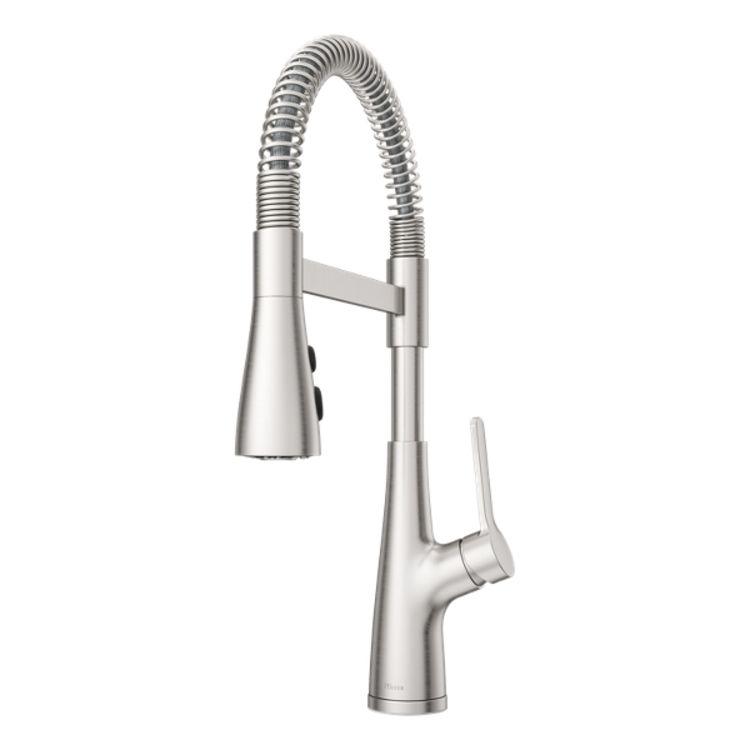 pfister lg529 necs neera semi pro pull down culinary kitchen faucet stainless steel