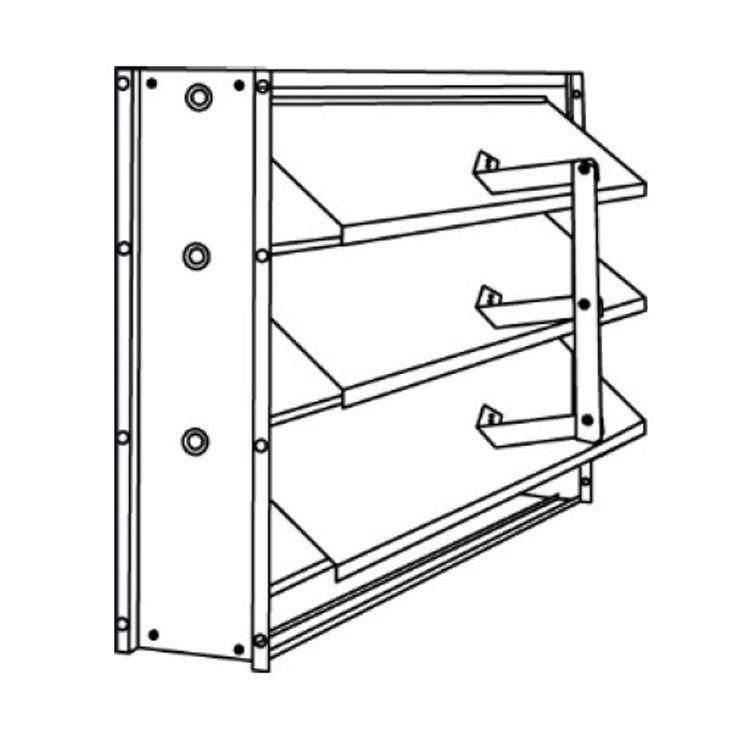 24X10 Vertical Mount Pressure Relief Damper (aluminum