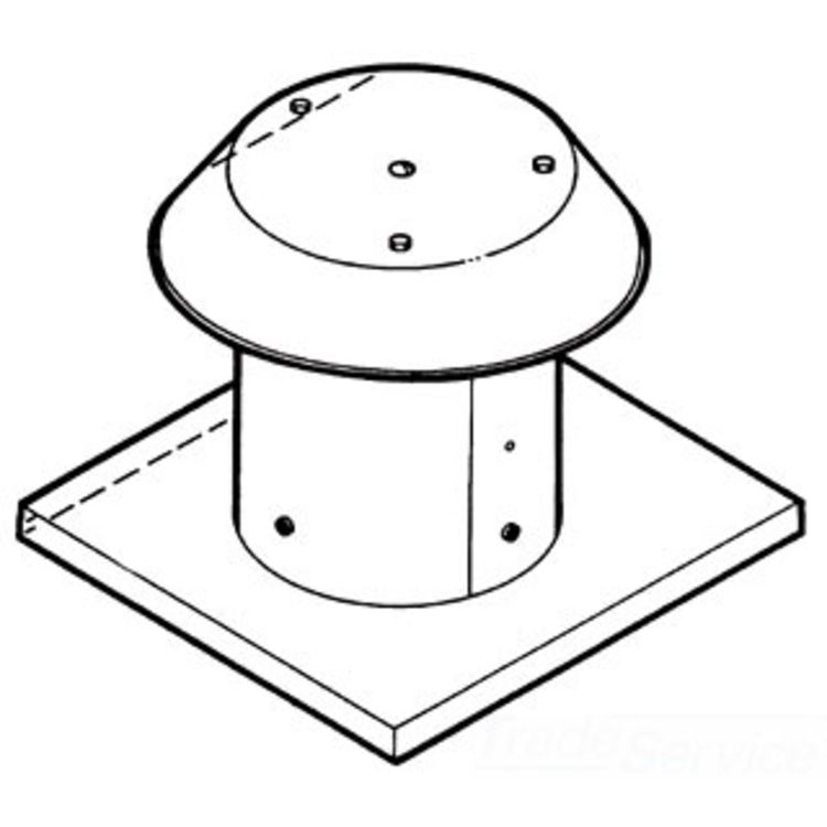 BROAN-NUTONE 612CM ROOF CAP FOR FLAT ROOF ALUMINUM UP TO