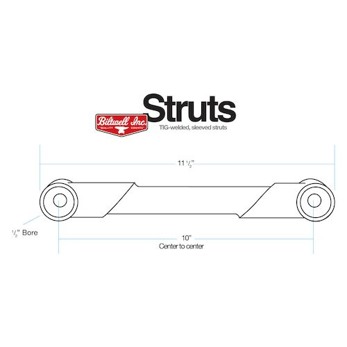 Biltwell Rigid Struts For Harley Sportster 1988-2003
