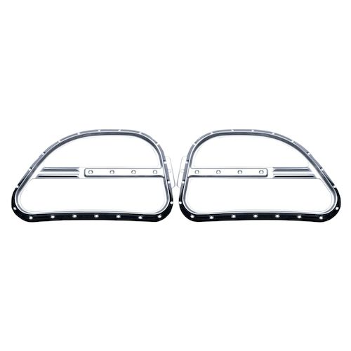Covingtons Dimpled Front Speaker Grills For Harley Touring
