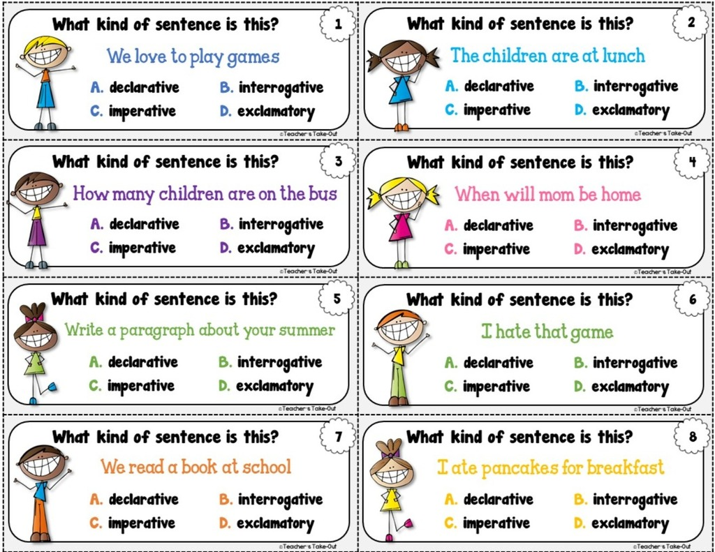 4 Kinds Of Sentences Declarative