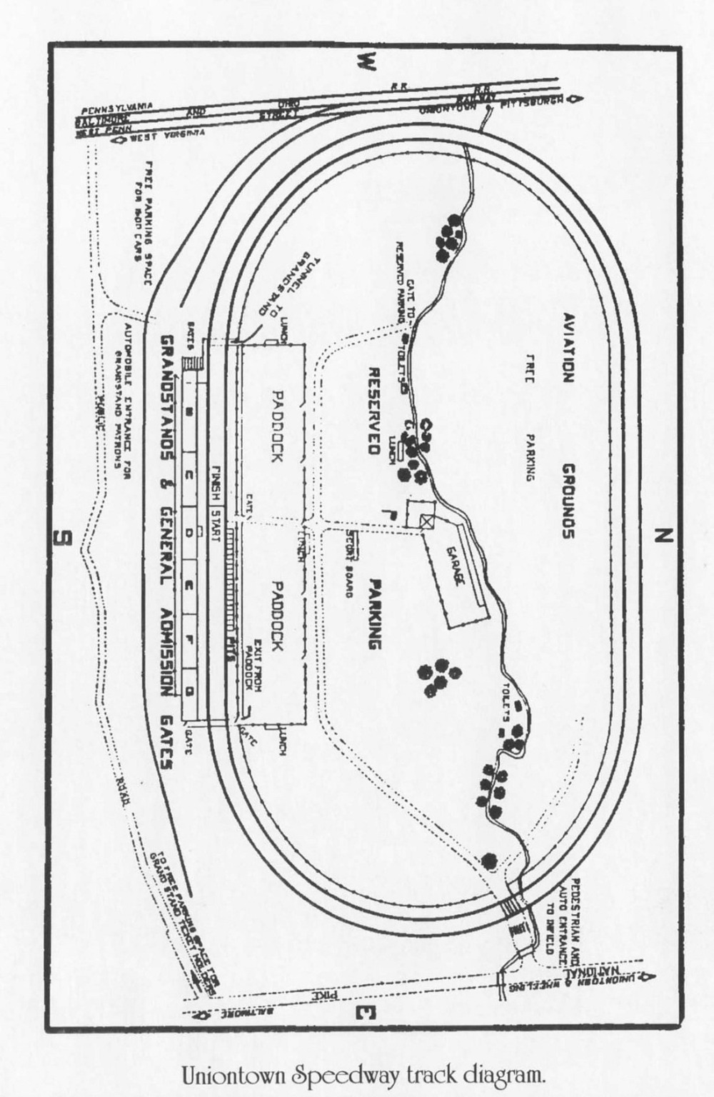 hight resolution of uniontown speedway board track diagram 1916 marci s vintage photos original stories
