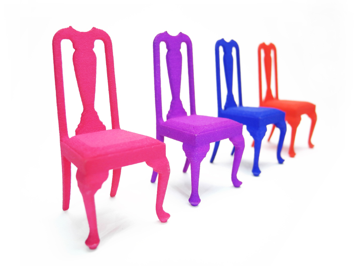 queen ann chairs nova steel transport chair 1 24 anne lqgxhqnxk by prettysmallthings 3d printed dyed strong amp flexible colors