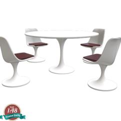 Tulip Table And Chairs Mid Century Hoop Chair Miniature 4 Eero Saarinen 9d7eum26e By Sensaiku Amp 3d Printed