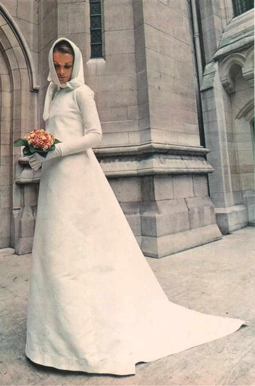 Vogue 2520 Pierre Cardin 1970s wedding dress designer bridal gown pattern