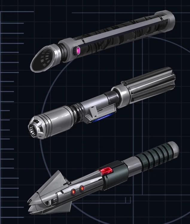 Star Wars The Force Unleashed Black Lightsaber Crystal