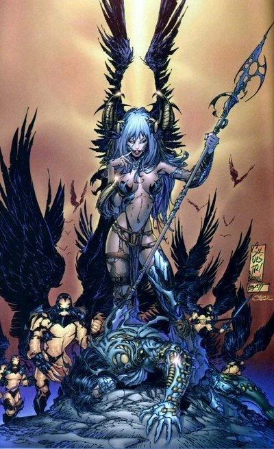 Power Girl Comic Wallpaper The Angelus The Darkness Wiki