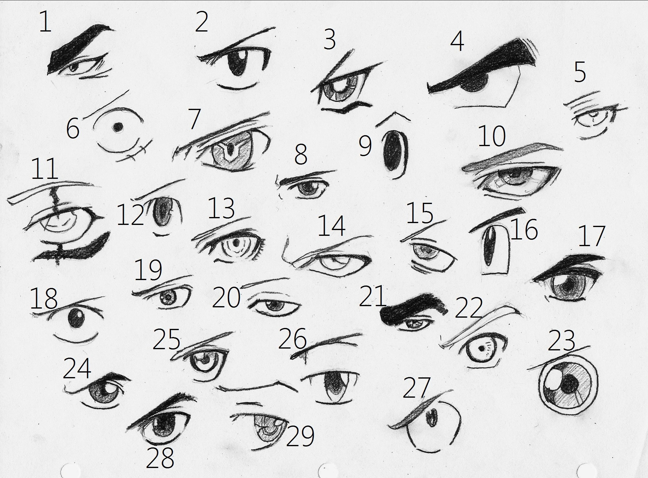 Free anime eyes 2 coloring pages