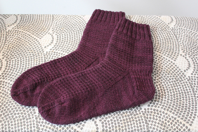 Plum Ringwood Socks