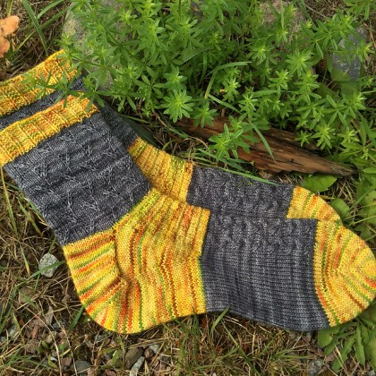Town Wall Socks as made by ChaiKnits