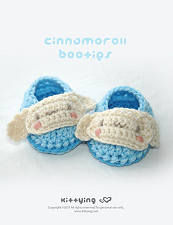 crochet baby booties diagram square d contactor wiring ravelry cinnamoroll pattern by kittying ying patterns com