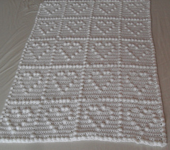 free crochet square pattern diagram rv 50 amp service ravelry: heart puff baby blanket by peach. unicorn