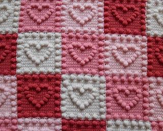 Ravelry Heart Motifs Baby Blanket pattern by Peach Unicorn