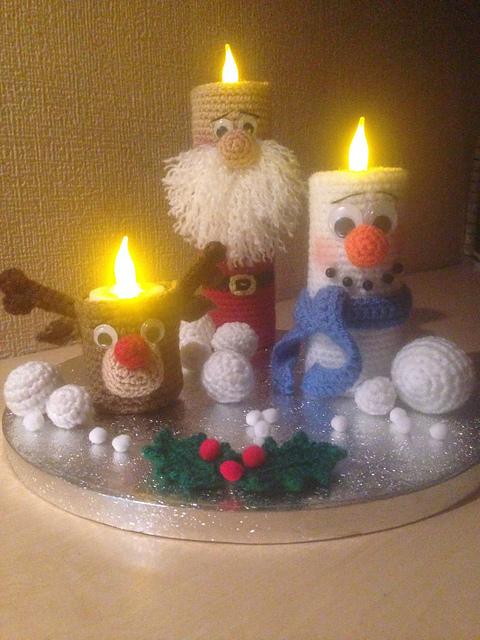 Decorative Christmas Candles
