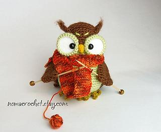 Knitting owl crochet pattern