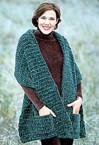 Ravelry: Plush Pocket Wrap (crochet) pattern by Lion Brand ...
