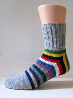 Striped men's socks.