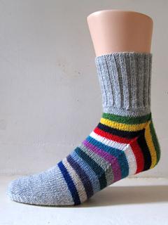 Striped men's socks.