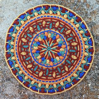 Ravelry Dandelion Mandala Overlay Crochet pattern by