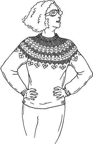 Ravelry: Iceland Pullover pattern by Donna Druchunas