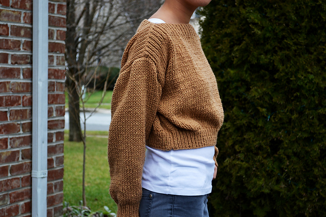 http://www.ravelry.com/patterns/library/cropped-boatneck-sweater