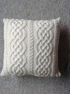 Ravelry Celtic Knit Aran Pillow pattern by Glenna C