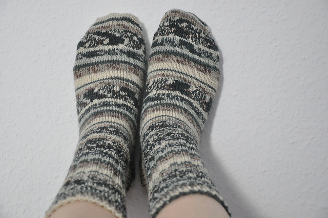 toe-up socken opal regenwald 6 aus'm stash
