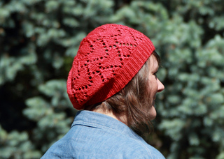 FREE Knitting Pattern ♥ Ruby Red Heart Hat by Kristen Ashbaugh-Helmreich on Ravelry