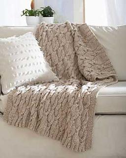 Ravelry Cable Blanket pattern by Bernat Design Studio