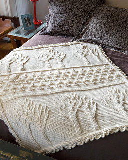 Ravelry Tree of Life Afghan Crochet pattern by Lion