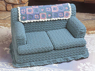 ravelry kitty couch green