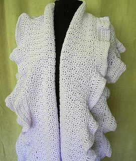Ravelry: Ruffled Shawl Wrap pattern by Timary Peterson