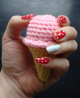 Crochet ice cream cone free pattern