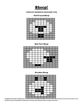 Ravelry: Sheep! Intarsia Charts pattern by Steph Conley