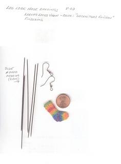Ravelry: Los Lobe Hose Tiny Sock Earrings pattern by Carol